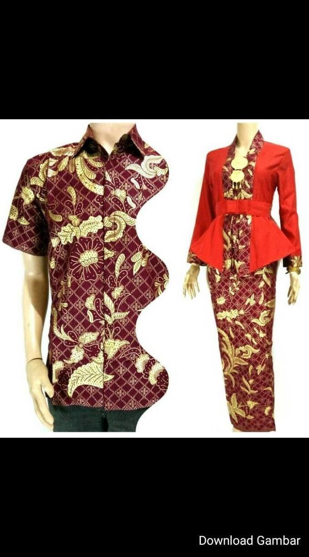 Jual Batik Couple Sarimbit Keluarga Rnb Lilit Baju Muslim Modern Casual Seragam