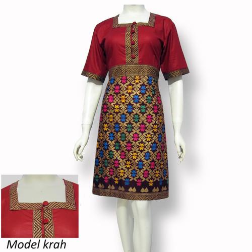 Jual Model Baju Dress Batik Terbaru Dres Batik Modern Sa 350 Kab