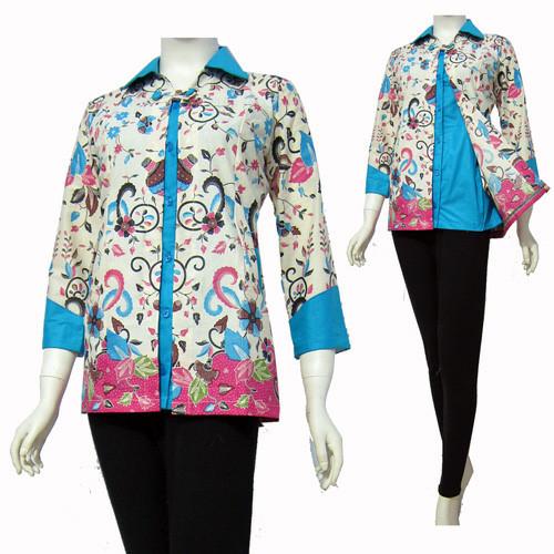 Jual Model Baju Blouse Batik Terbaru Blus Atasan Batik Sa 300 Kab Boyolali Baju Batik Dinasti Tokopedia