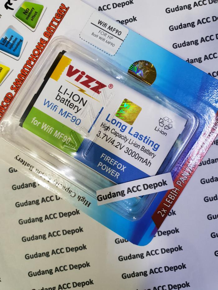 harga Baterai wifi bolt mf90 batre vizz mf 90 Tokopedia.com