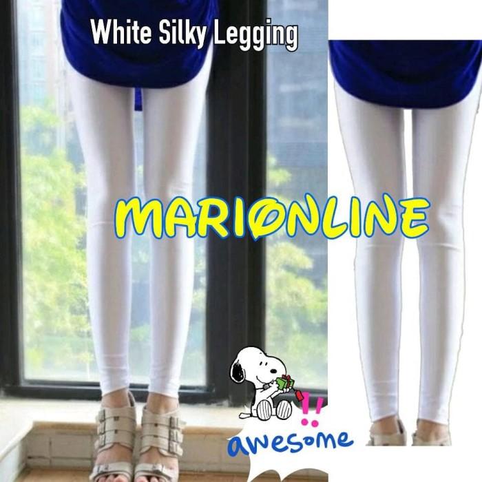 Jual Legging Licin Silky Sporty Putih White Soft Lycra Legging Jakarta Selatan Naranet Tokopedia
