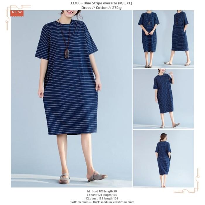 harga Blue stripe oversize (mlxl)  dress -33306 Tokopedia.com