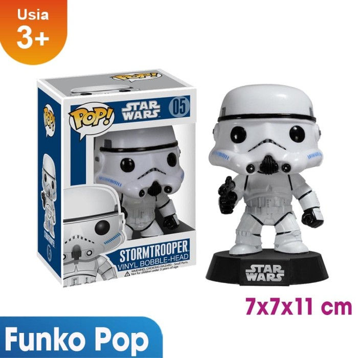 harga 100% original product funko pop star wars stormtrooper 05 Tokopedia.com