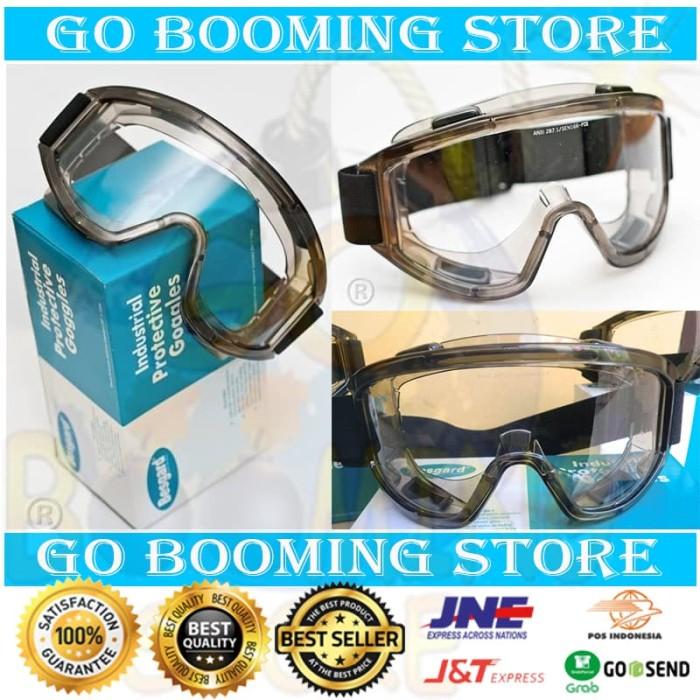 Foto Produk KACAMATA SAFETY MULTIFUNGSI MOTOR GOGGLE / GOOGLE BESGARD SG020 CLEAR dari Go Booming Store