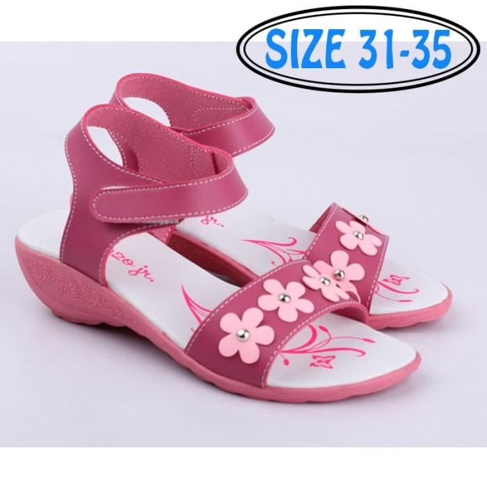 harga Sepatu sandal wedges anak perempuan pink putih original catenzo junior Tokopedia.com