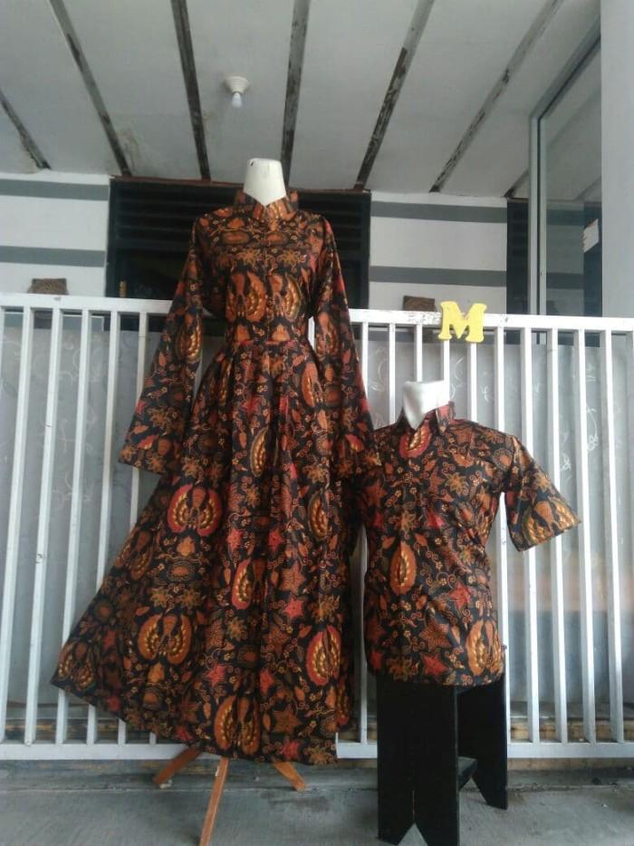 Jual Sarimbit Couple Kemeja Dan Gamis Batik Model Payung Faradisa