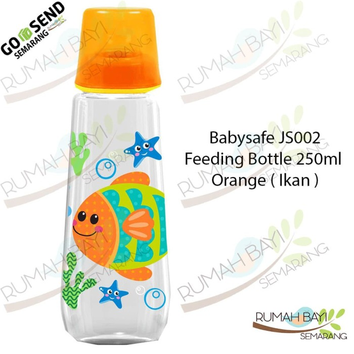 Babysafe Feeding Bottle 250ml Orange JS002 - Botol Susu Animals