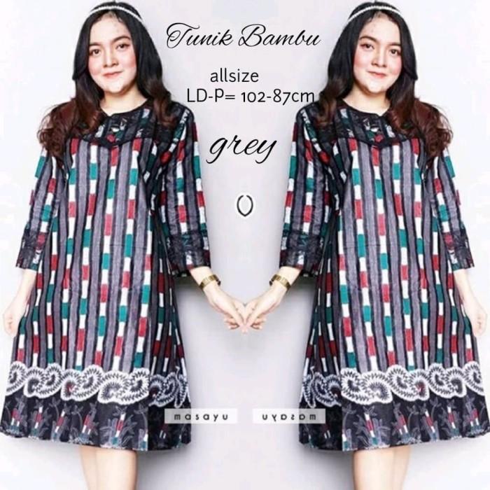 harga Tunik blouse blus batik bahan katun tb202 Tokopedia.com