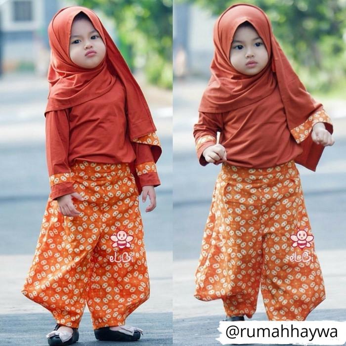 Batik anak model celana model Baju muslim bayi perempuan muslimah 1-2 699163b1e6