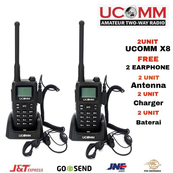 harga Ucomm x8 sepasang lengkap dengan earphone Tokopedia.com