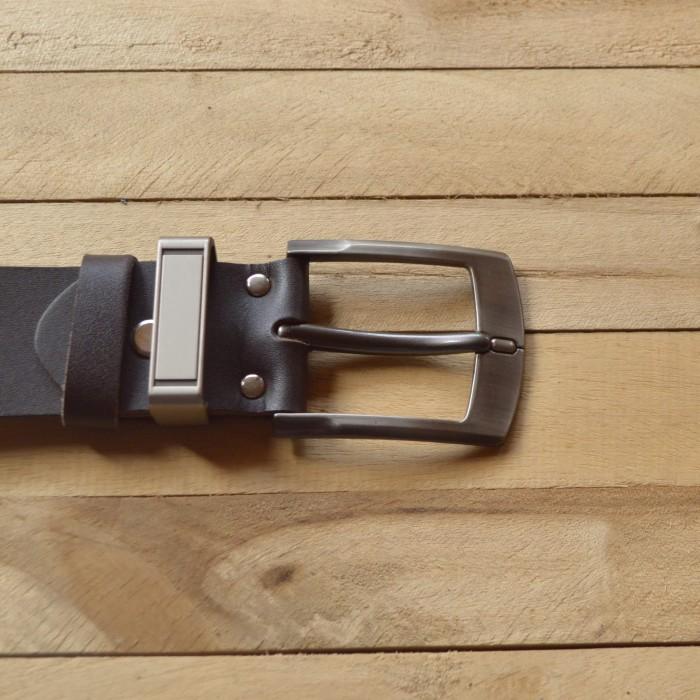 ikat pinggang pria kulit asli warna coklat - gesper - belt -sabuk 019