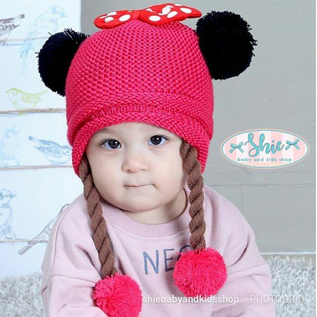 Baby hat knit topi bayi topi anak minnie mouse rajut bc5027eb1a