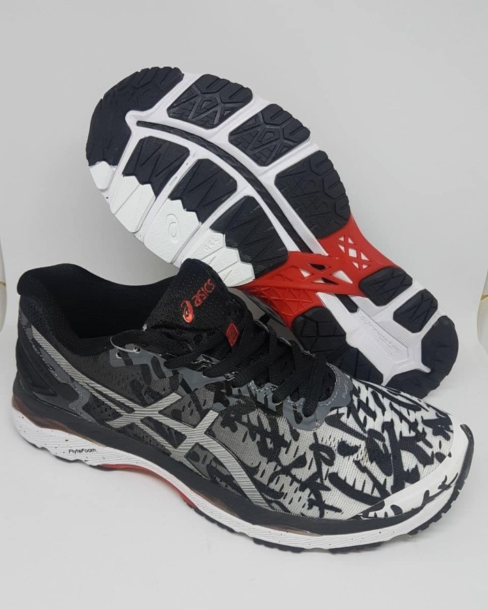 Jual Sepatu Volly Asics Gel Kayano 24 White Black Women Premium ... 0662130997