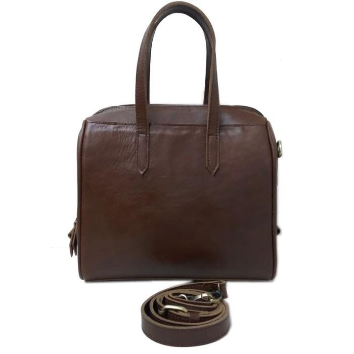 Tas Kulit Asli - Tas Kulit Wanita - Hand Bag Full Rit Kecil Pull Up - ed3aac686f