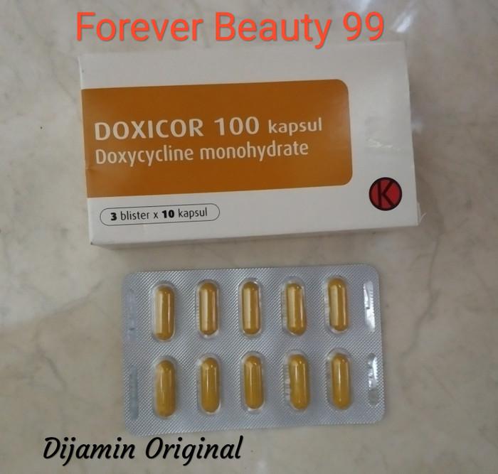 Jual Doxicor 100 mg - obat jerawat ampuh - 1 strip 10 ...