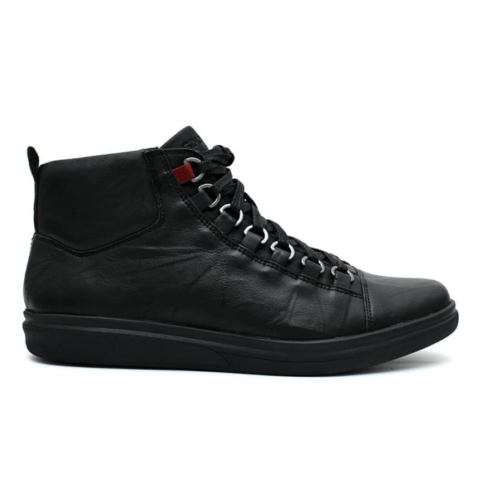 25a1fd99520f8 Gino mariani gregory 1 exclusive cow leather casual men s shoes black -  hitam 43