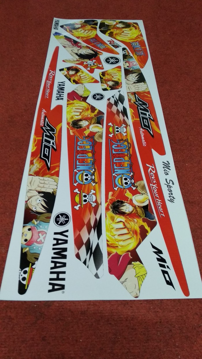 Striping sticker variasi one piece mio sporty