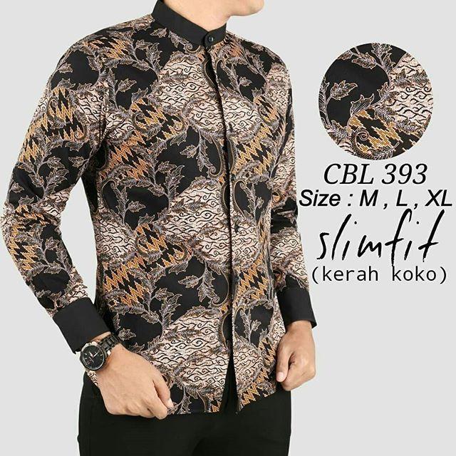 77 Contoh Baju Batik Koko Kekinian