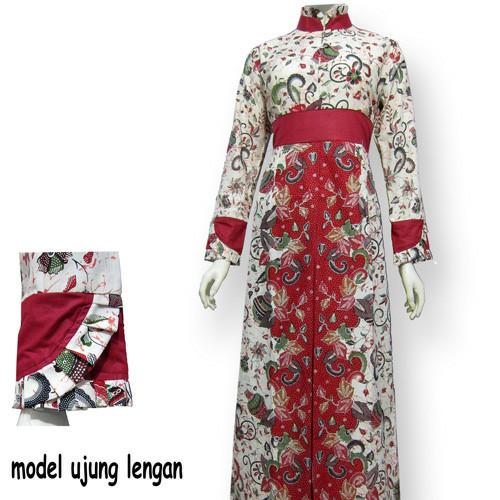 Jual Model Baju Gamis Batik Kombinasi Terbaru Busana Muslim Sa 406 Kab Boyolali Baju Batik Dinasti Tokopedia