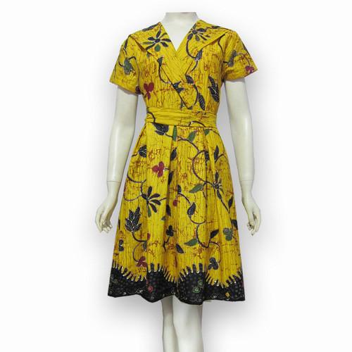 Jual Model Baju Dress Batik Terbaru Dres Batik Modern Sa 412 Kab