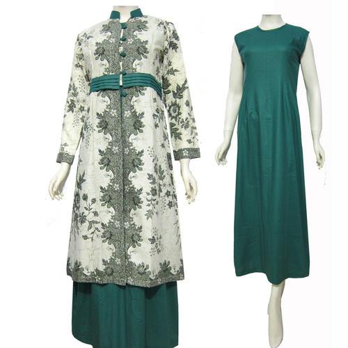 Jual Model Baju Gamis Batik Kombinasi Terbaru Busana Muslim Sa 317 Kab Boyolali Baju Batik Dinasti Tokopedia