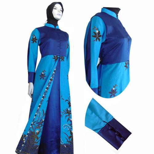 Jual Model Baju Gamis Batik Kombinasi Terbaru Busana Muslim Sa 524 Kab Boyolali Baju Batik Dinasti Tokopedia