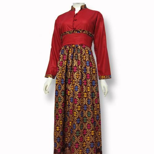 Jual Model Baju Gamis Batik Kombinasi Terbaru Busana Muslim Sa 351 Kab Boyolali Baju Batik Dinasti Tokopedia