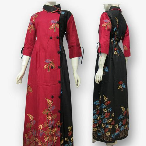 Jual Model Baju Gamis Batik Kombinasi Terbaru Busana Muslim Sa 404 Kab Boyolali Baju Batik Dinasti Tokopedia