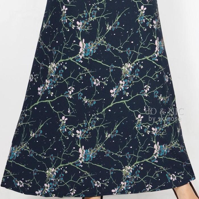 SET Gamis Syari SHIREEN Sakura (Maxi Dress + Jilbab) AllSize fit to