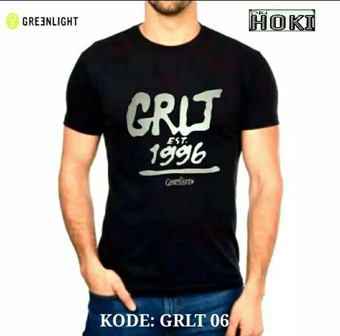 Baju Kaos Casual Original Greenlight Hitam Tshirt Sport Pria Wanita