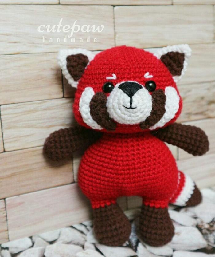 Red panda (pattern from zoomigurumi 6) : crochet | 836x700