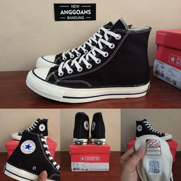 Jual Sepatu CONVERSE ALL STAR 70S SEVENTIES Black White Hitam Putih ... f30a923e65