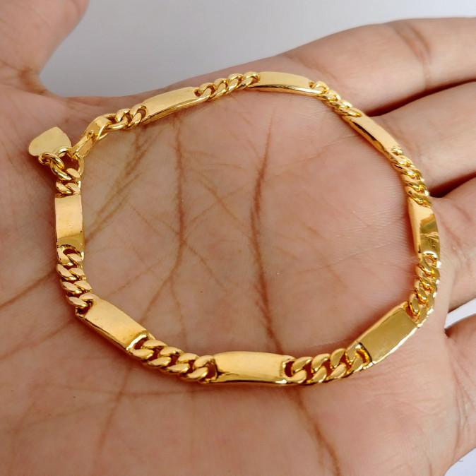 Jual Produk Dan Promo Gelang Plat Rantai Lapis Emas Terbaik Dengan