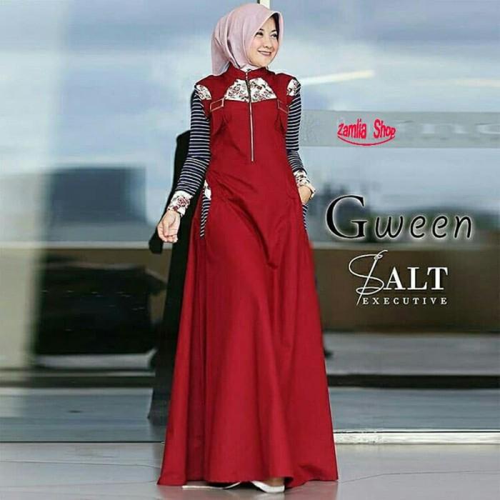 06a7c21a389 Jual PROMO LONG DRESS MUSLIMAH REMAJA LIMITED - Merah Muda ...