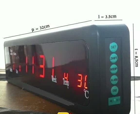 Caixing Jam Dinding Digital Cx808 Merah - Daftar Harga Terupdate ... 885899bdec