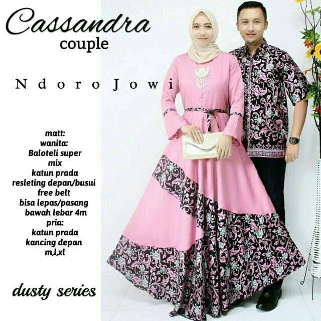 Batik Gamis Muslimah Cassandra Couple Dilan Mahkota Seragaman Gamis
