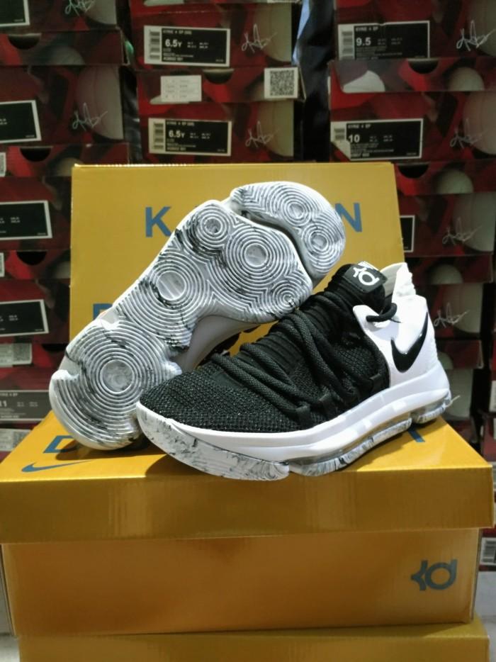 Jual  FREE SHOES BAG Sepatu Basket Nike KD 10(X) Marbled Oreo  Kevin ... 09abf5ddd5