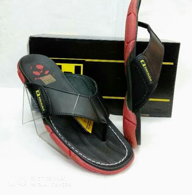 ... Sandal kulit pakalolo 2329 BR original by pakalolo Hitam 40