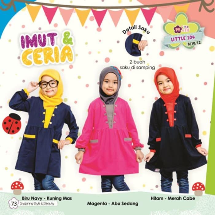 Harga Gamis Anak Set Jilbab Alnita Aga 05 Baju Muslim Anak Syari