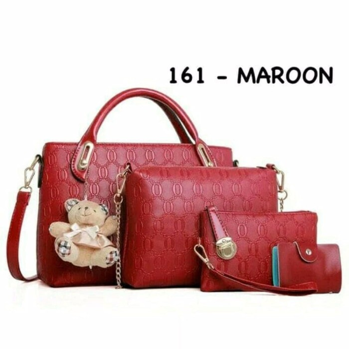 Jual Terlaris Tas Import Wanita Korea 4in1 Handbag Teddy Bear Jos Harga Rp  262.500 29f5b18dfc