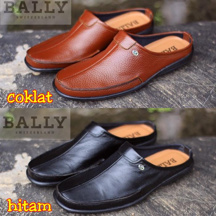 Jual Sandal Sepatu Pria Bally Bustong Semi Formal Kulit Kerja ... b77e62c9db