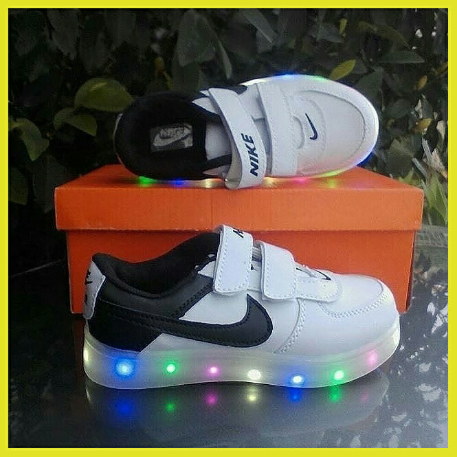 Jual Sepatu Nike Kids LED Anak Sport Sekolah Santai Lampu Nyala ... a4a2a464e3