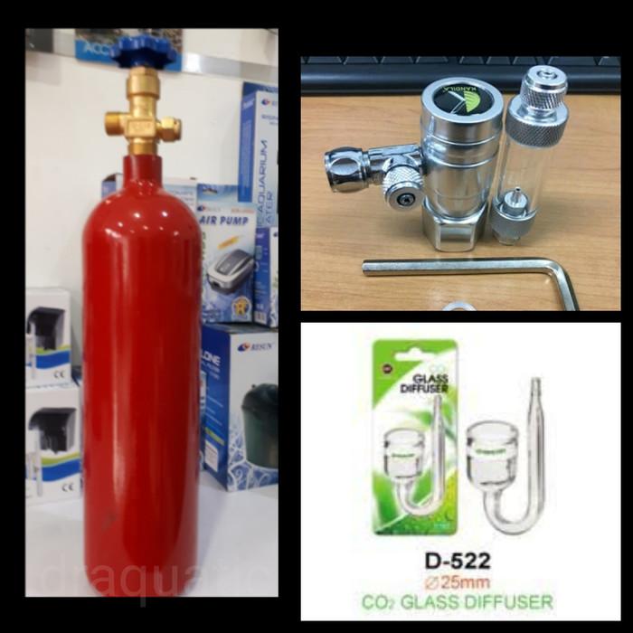 harga Aquascape - paket tabung co2 2kg regulator kandila glass diffuser Tokopedia.com
