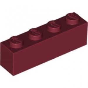 Black x16 Lego Brick 1x4 3010
