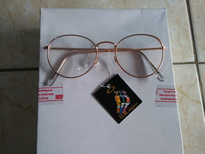 harga Kacamata korea bulat oval gold fashion gaya trendy 01479 Tokopedia.com 4b8a6de6d7