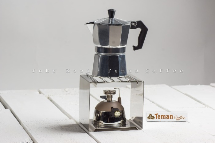 harga Set 3 cup silver mokapot with mini gas burner & gas rack Tokopedia.com