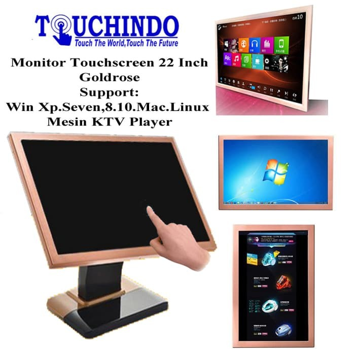 harga Monitor touchscreen 22inch touchindo rosegold Tokopedia.com