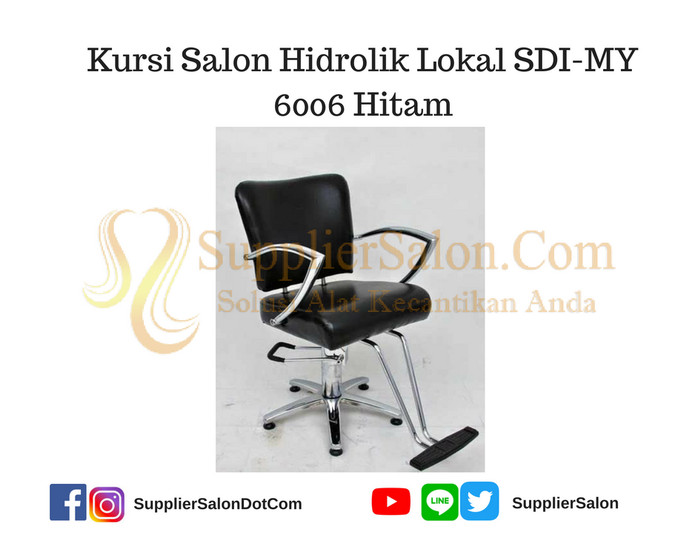 harga Kursi salon hidrolik lokal sdi-my 6006 hitam Tokopedia.com