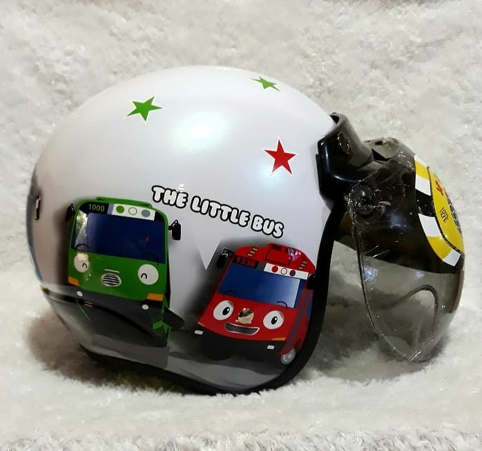 harga Helm anak jp retro kids tayo the little bus pearl white Tokopedia.com