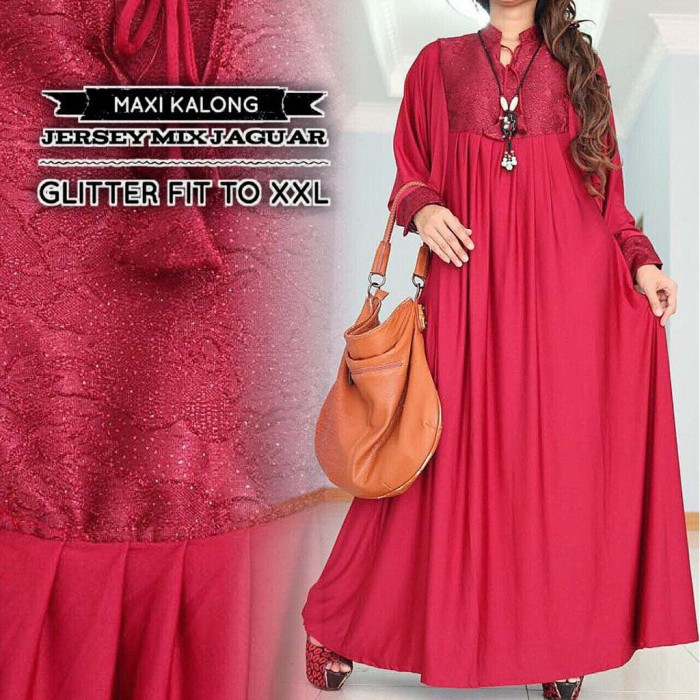 Jual Dress Pesta Big Size Gamis Pesta Jumbo Simple Anggun Dki